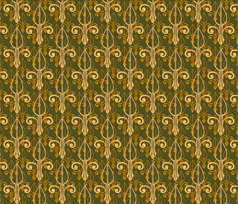 fleurdelis-pr_triple_gold fabric by glimmericks on Spoonflower - custom fabric