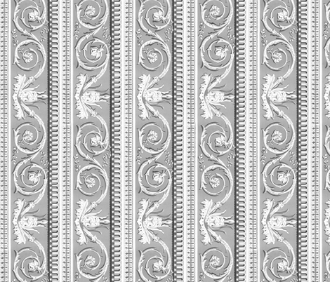 Louis XVI Border ~ d'Argent fabric by peacoquettedesigns on Spoonflower - custom fabric
