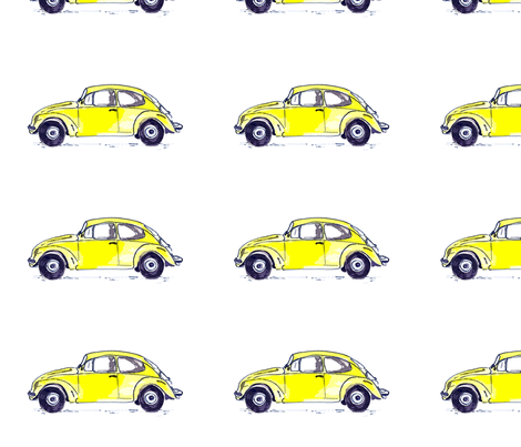 Yellow Beetle fabric by glennis on Spoonflower - custom fabric