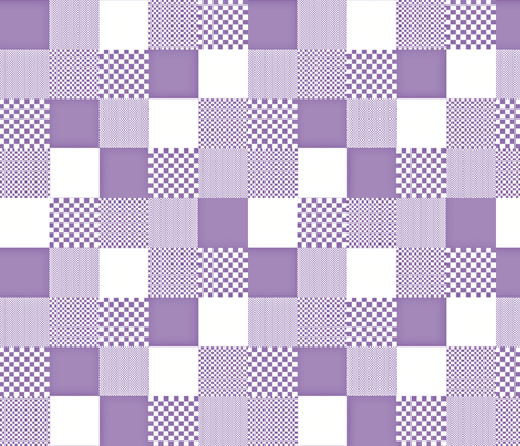 checkitout_lilac fabric by glimmericks on Spoonflower - custom fabric
