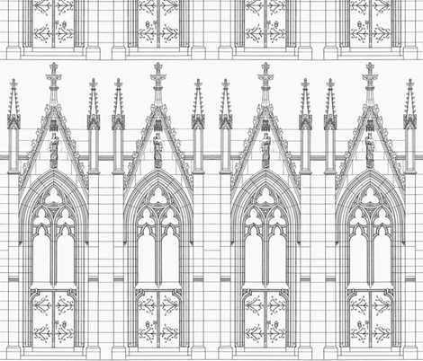 Church Door fabric by peacoquettedesigns on Spoonflower - custom fabric