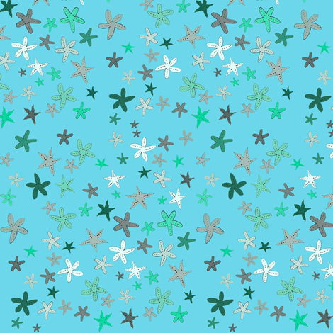 manystarfish fabric by melissssaf on Spoonflower - custom fabric