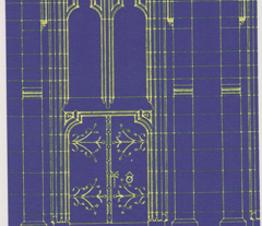 Church Door Blue Print