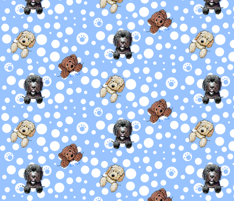 Pocket Doodle Dogs fabric by kiniart on Spoonflower - custom fabric
