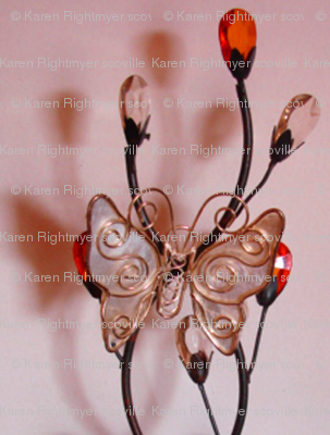 pink glass butterfly