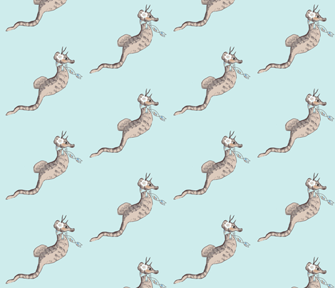 Samantha Seahorse fabric by karenharveycox on Spoonflower - custom fabric