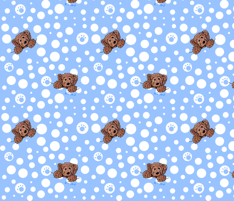 Chocolate Doodles fabric by kiniart on Spoonflower - custom fabric