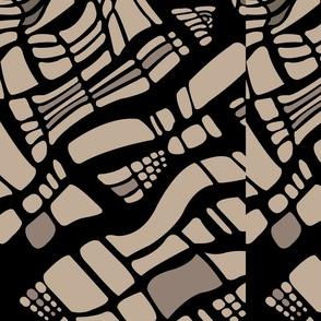 tribal earthtones