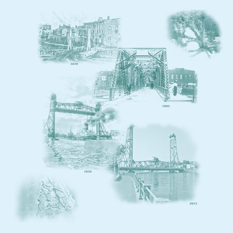 Welland's History In Toile fabric by animotaxis on Spoonflower - custom fabric