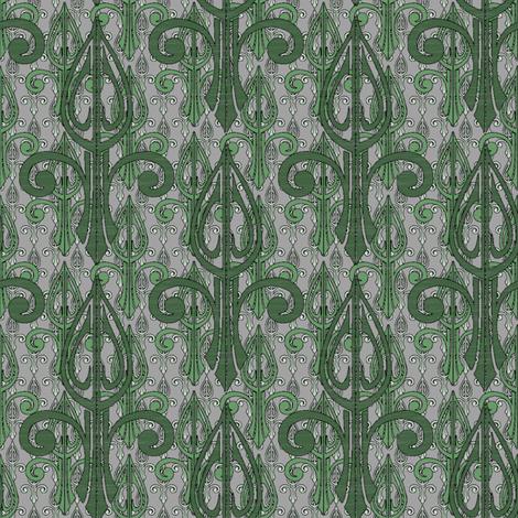 fleurdelis-pjr2_triple_forest fabric by glimmericks on Spoonflower - custom fabric