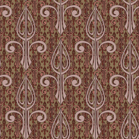 fleurdelis-pjr2_triple_toast and jam fabric by glimmericks on Spoonflower - custom fabric