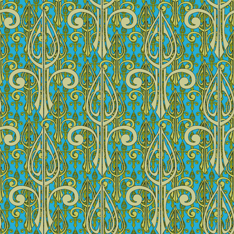 fleurdelis-pjr2_triple_earthday fabric by glimmericks on Spoonflower - custom fabric