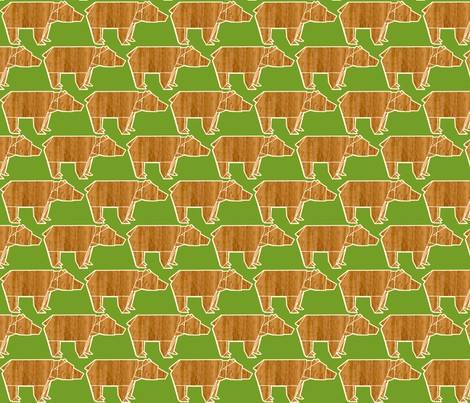 origami bear fabric by heidikenney on Spoonflower - custom fabric