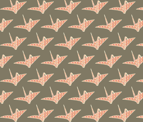 Sprinkled Origami Crane fabric by heidikenney on Spoonflower - custom fabric