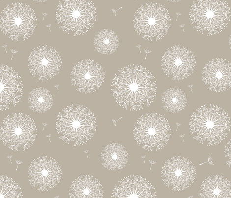 dandelion (warm grey) fabric by einekleinedesignstudio on Spoonflower - custom fabric