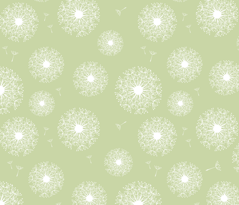 dandelion (light green) fabric by einekleinedesignstudio on Spoonflower - custom fabric