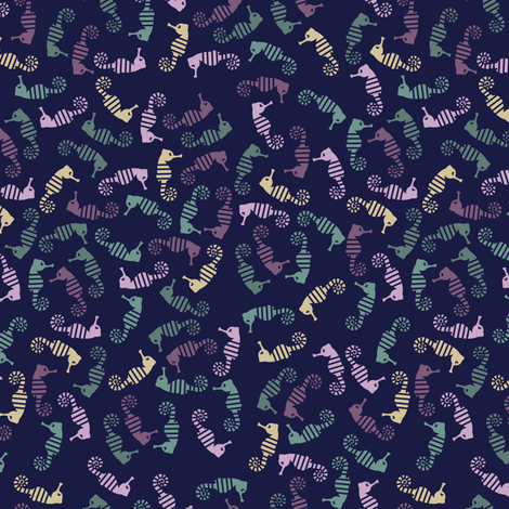 Hippocampus fabric by snigne on Spoonflower - custom fabric