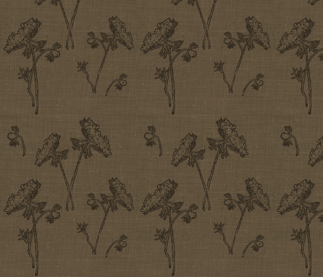 Queen Ann Lace Dark Tobacco fabric by retrofiedshop on Spoonflower - custom fabric