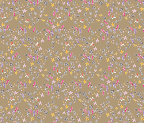 Sea in Tan fabric by joybucket on Spoonflower - custom fabric