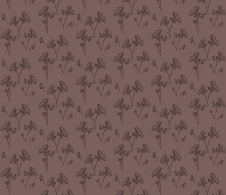Queen ann lace on vintage purple fabric by retrofiedshop on Spoonflower - custom fabric