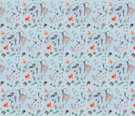 Micro sea life fabric by ravynka on Spoonflower - custom fabric