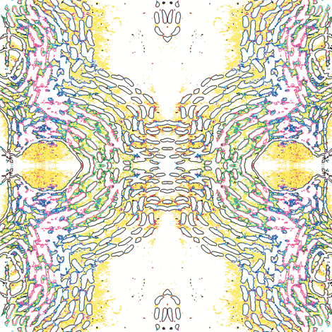 sun cells fabric by heikou on Spoonflower - custom fabric