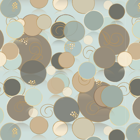 Circle Upon Circle - light blue fabric by petals_fair on Spoonflower - custom fabric