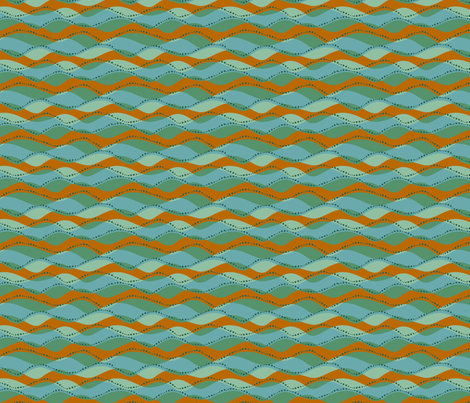 Sea waves bright fabric by cjldesigns on Spoonflower - custom fabric