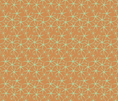 Sand star swarm fabric by demouse on Spoonflower - custom fabric