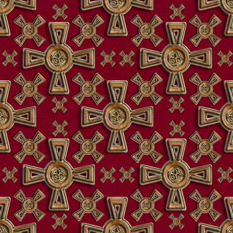 Celtic Crosses fabric by eclectic_house on Spoonflower - custom fabric