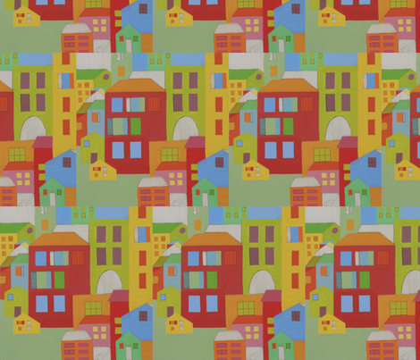 Busy City fabric by eecook on Spoonflower - custom fabric