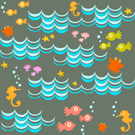 Divers Cove fabric by fable_design on Spoonflower - custom fabric