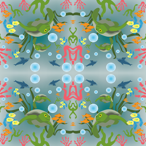 SeaLife Ditsy fabric by brandymiller on Spoonflower - custom fabric