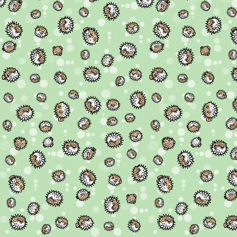 ditsy puffers fabric by doodleandhoob on Spoonflower - custom fabric