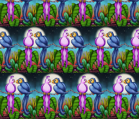 MOONLIGHT LOVE fabric by bluevelvet on Spoonflower - custom fabric