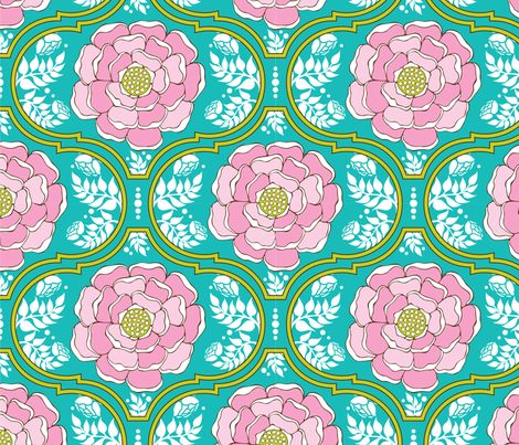Yogita : India Floral Island fabric by hairpik on Spoonflower - custom fabric