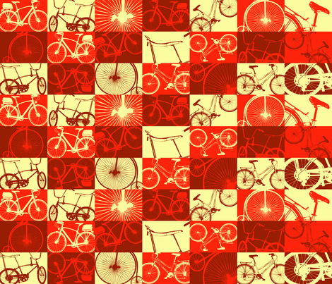 On Two Wheels fabric by illustrative_images on Spoonflower - custom fabric