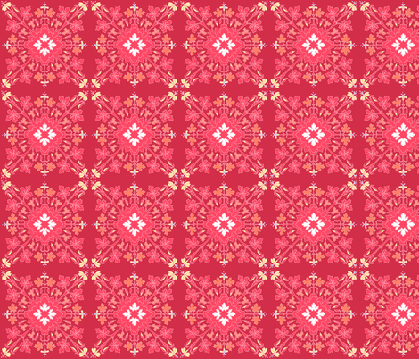 Geranium Red fabric by atomic_bloom on Spoonflower - custom fabric
