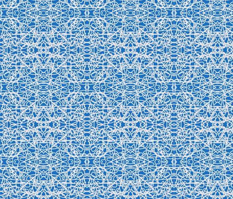 White rope on Bavarian blue fabric by su_g on Spoonflower - custom fabric