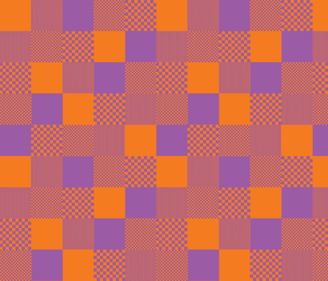 checkitout_orange purple fabric by glimmericks on Spoonflower - custom fabric