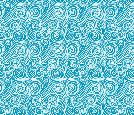 houle turquoise fabric by nadja_petremand on Spoonflower - custom fabric