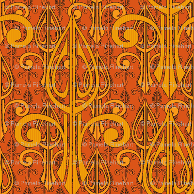 fleurdelis-pjr2_triple_tangerine flame