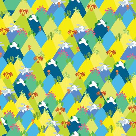 Ain't no mountain high enough fabric by studiojelien on Spoonflower - custom fabric