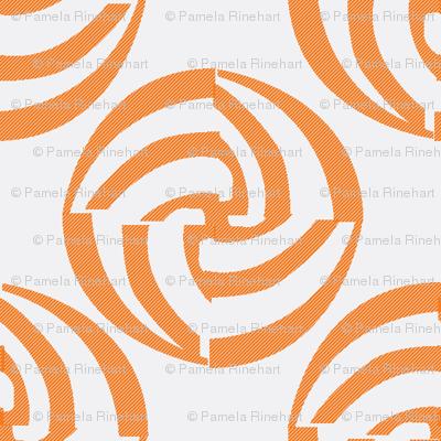 small swirleys - orange frost whirl