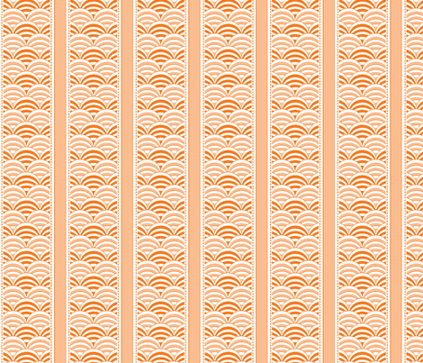 deco-dent stripe orange splash fabric by glimmericks on Spoonflower - custom fabric