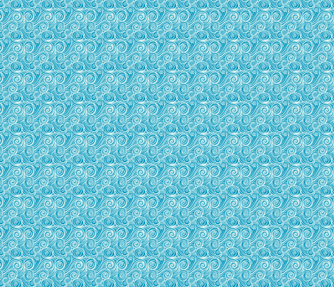 houle turquoise s fabric by nadja_petremand on Spoonflower - custom fabric