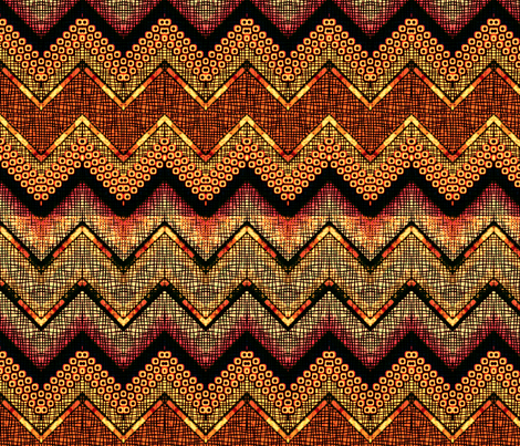 a sucker for orange chevron  fabric by glimmericks on Spoonflower - custom fabric