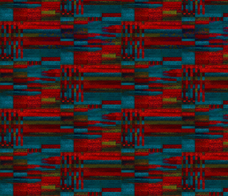 Dark reds in lines of chalk fabric by su_g on Spoonflower - custom fabric