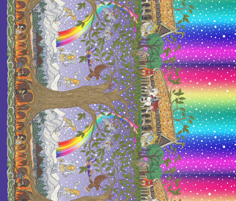 Small Yggdrasil fabric by ceanirminger on Spoonflower - custom fabric