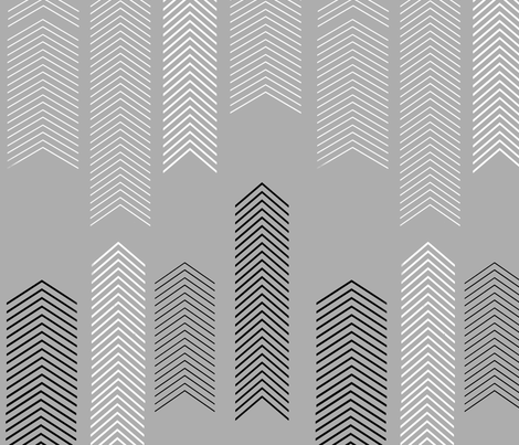 chevron_WHITEGREYtile1_150dpi16inchwide fabric by cristinapires on Spoonflower - custom fabric